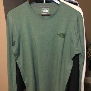 Green North Face long sleeve